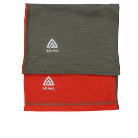 Aclima LightWool Bandeau Enfant, high risk red/ranger green